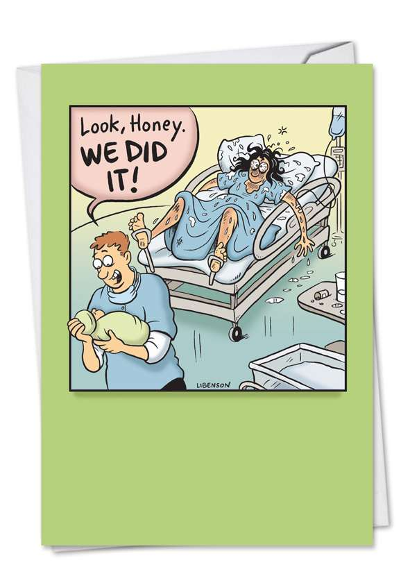 We Did It: Hysterical Baby Printed Card