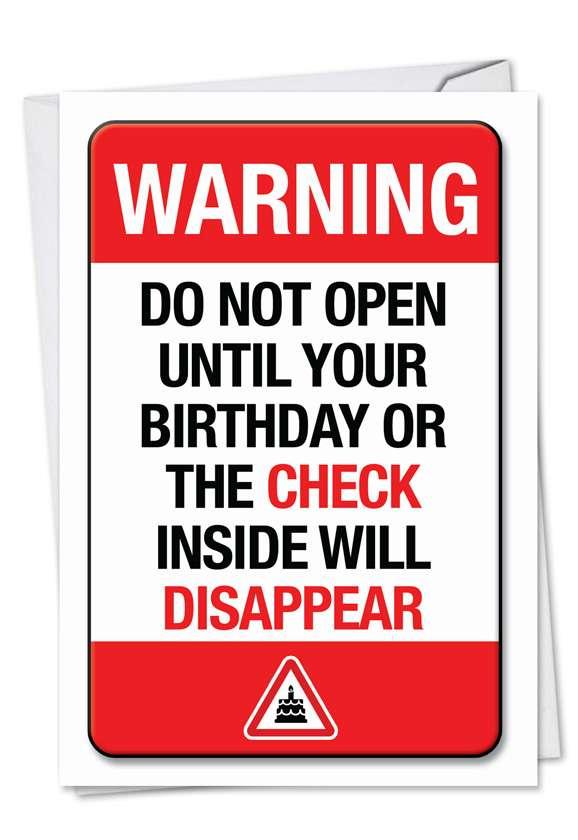 Birthday Warning Card