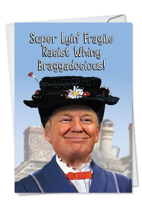 Trump Poppins: Hysterical Birthday Paper Greeting Card