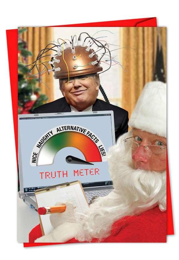 Trump Truth Meter: Hilarious Christmas Paper Card