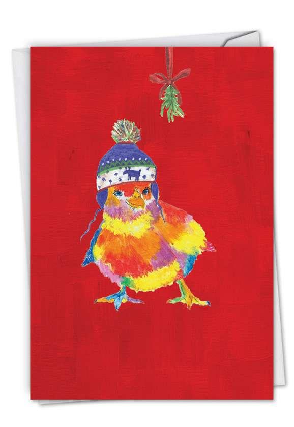 Christmas Funny Farm - Chick Card