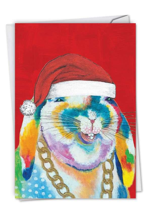 Funny Farm - Bunny: Stylish Christmas Printed Card