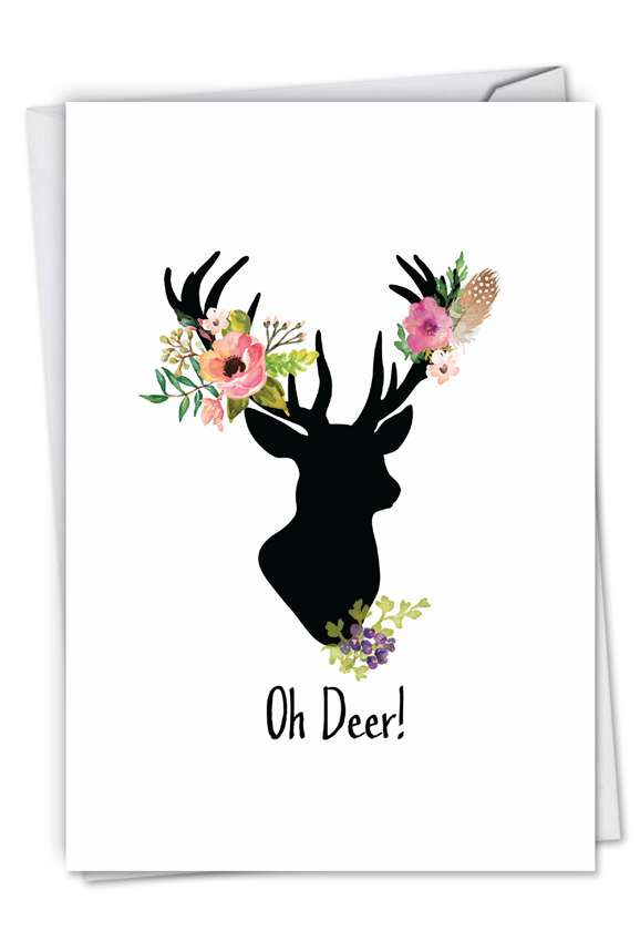 Oh Deer: Stylish Christmas Paper Greeting Card