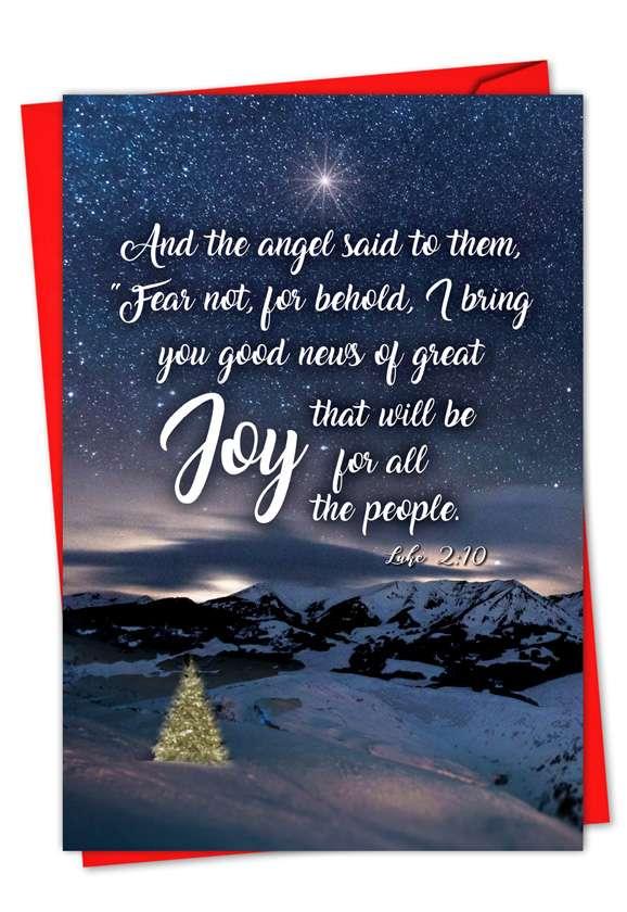 Christmas Quotes Luke 2:10: Creative Christmas Greeting Card