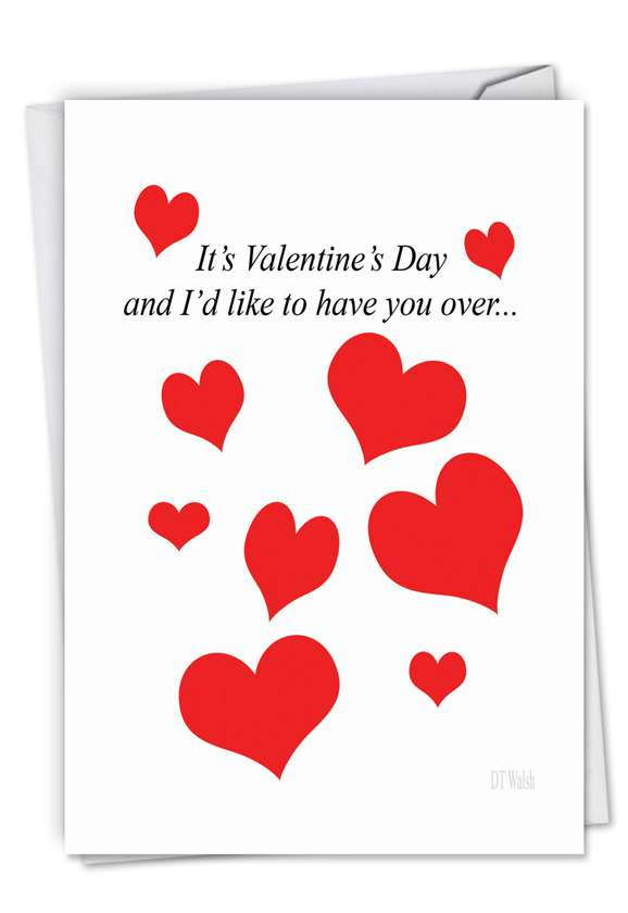 Over and Over: Hilarious Valentine's Day Paper Greeting Card