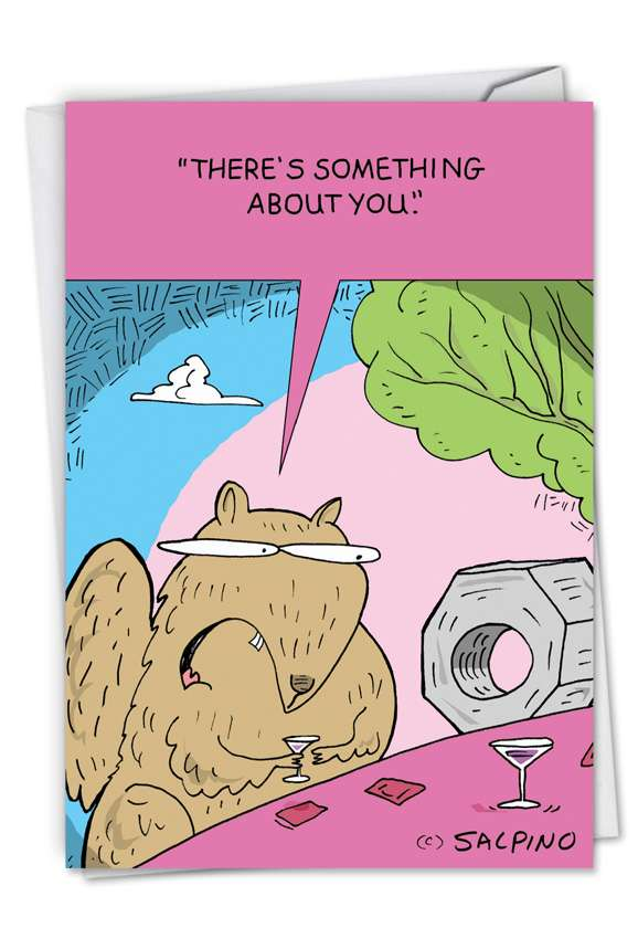 Squirrel and Nut: Funny Valentine's Day Printed Card