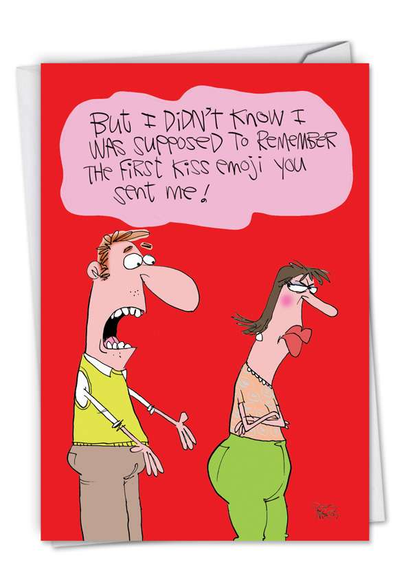 First Kiss Emoji Card