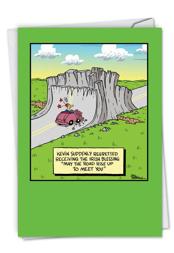 May The Road Rise Up: Humorous St. Patrick's Day Paper Card