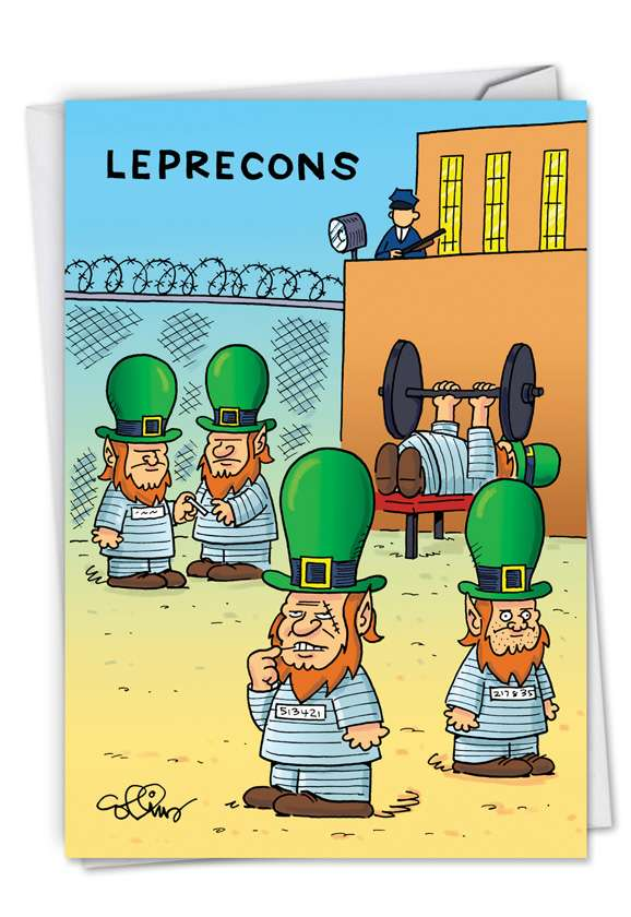 Leprecons: Hysterical St. Patrick's Day Greeting Card