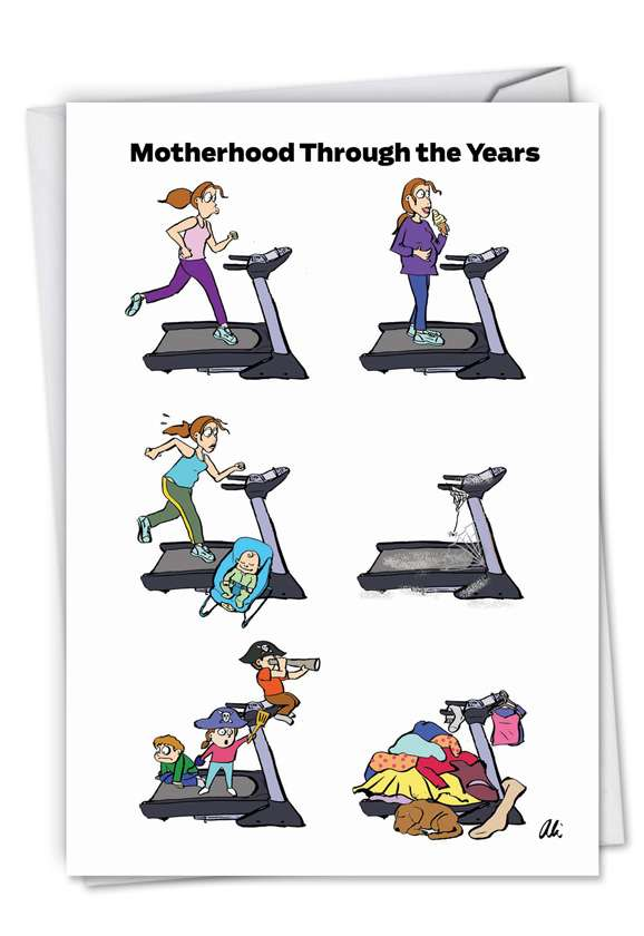 Mom Treadmill: Funny Mother's Day Paper Card