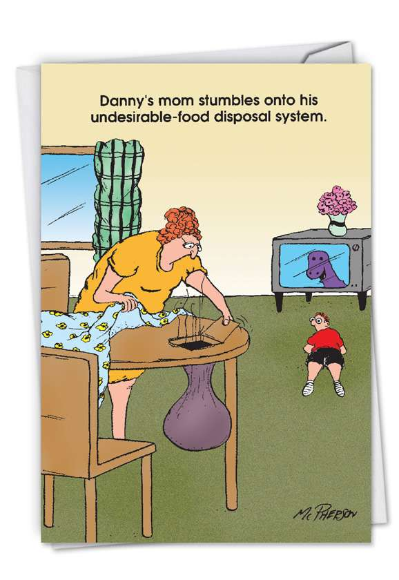 Food Disposal System: Hilarious Mother's Day Paper Card