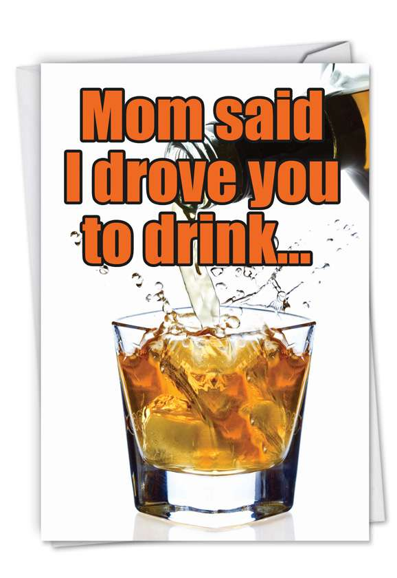 Driven To Drink: Hilarious Father's Day Printed Card