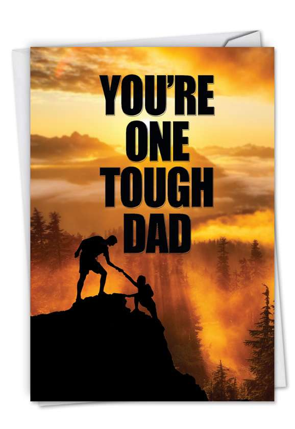 One Tough Dad: Creative Father's Day Paper Card