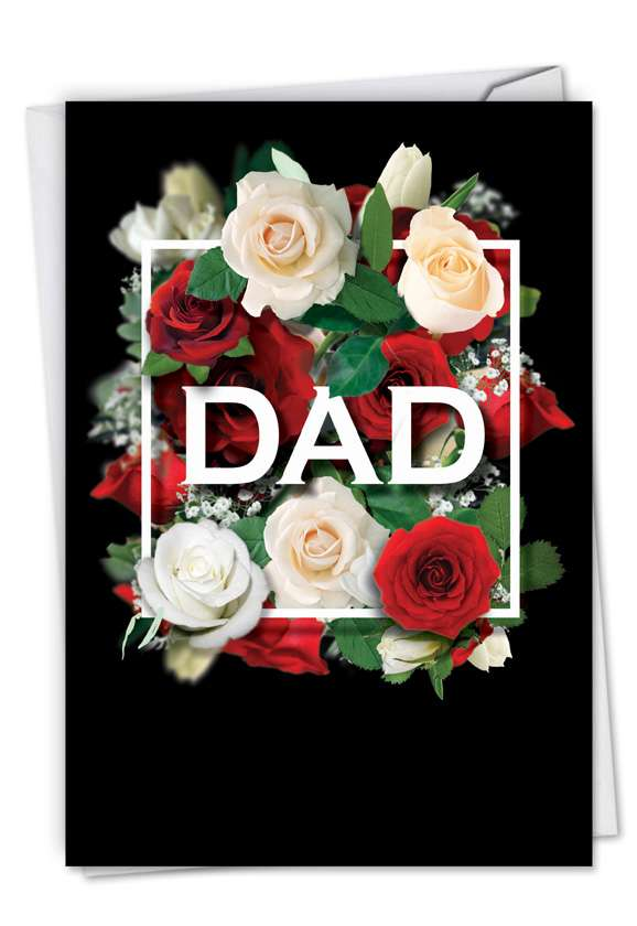 Dad Squared: Stylish Father's Day Greeting Card
