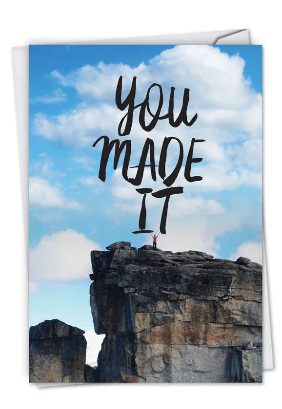 You Made It: Stylish Congratulations Printed Greeting Card