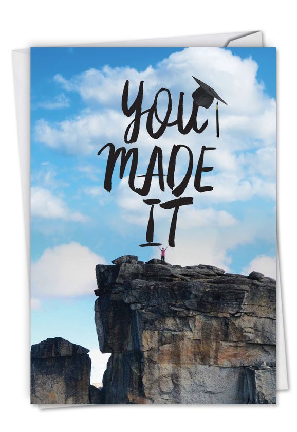 You Made It: Creative Graduation Paper Card