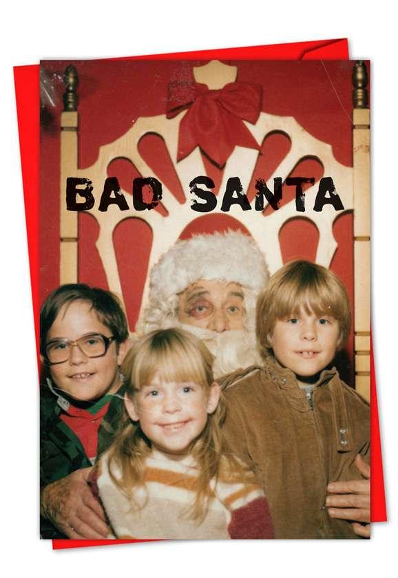 Black-Eyed Santa: Hysterical Seasons Greetings Greeting Card