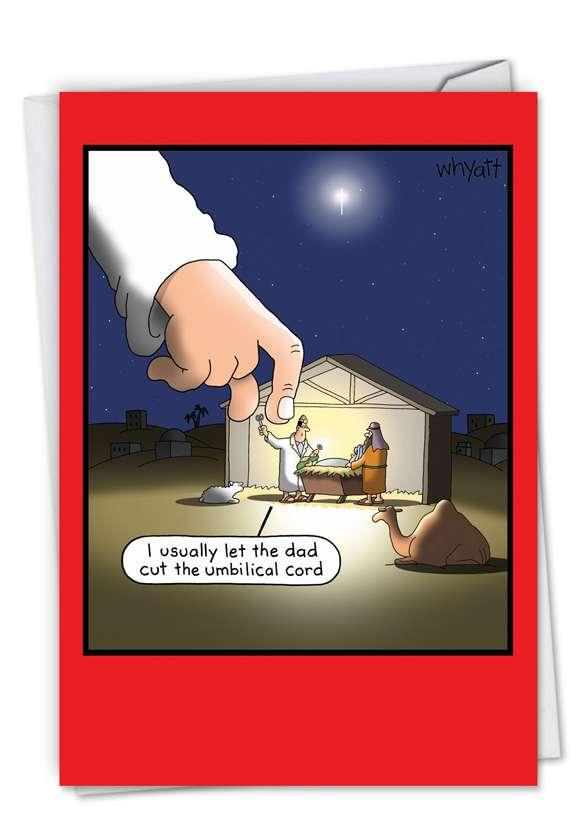Umbilical Cord: Humorous Christmas Greeting Card