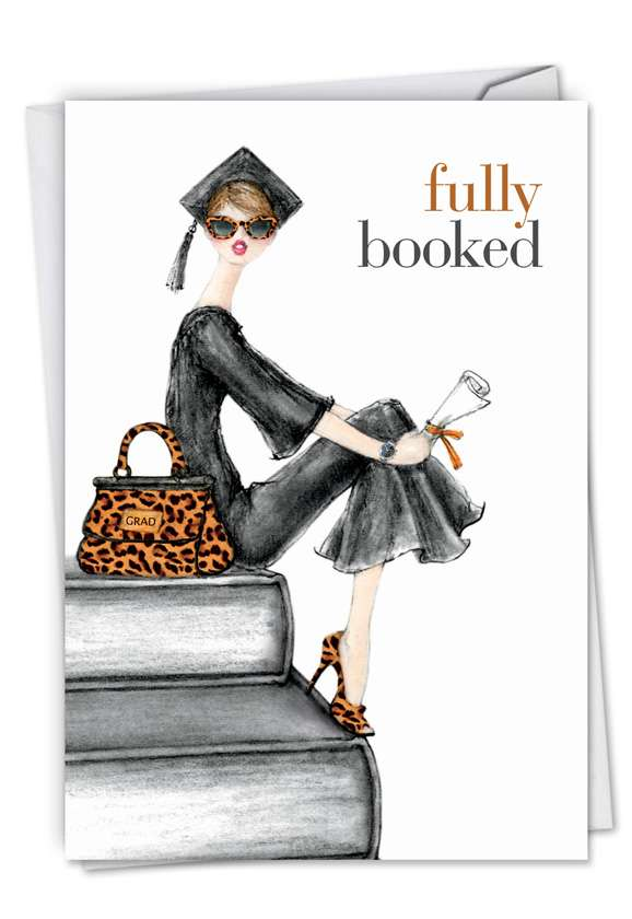 Fully Booked: Creative Graduation Paper Greeting Card