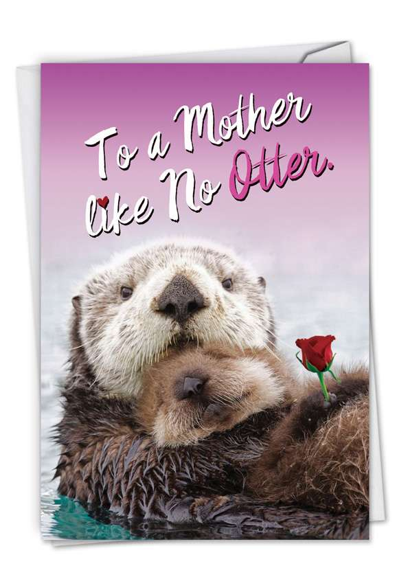 Little Otters: Hysterical Mother's Day Printed Greeting Card