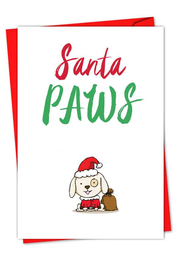 It Was The Pun Before Christmas - Dog: Creative Christmas Printed Greeting Card
