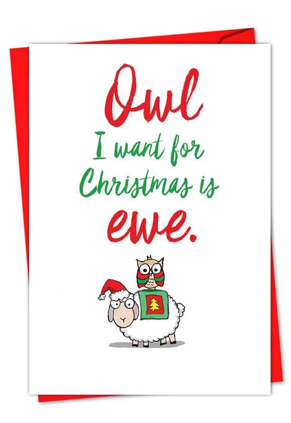 It Was The Pun Before Christmas - Sheep: Creative Christmas Greeting Card