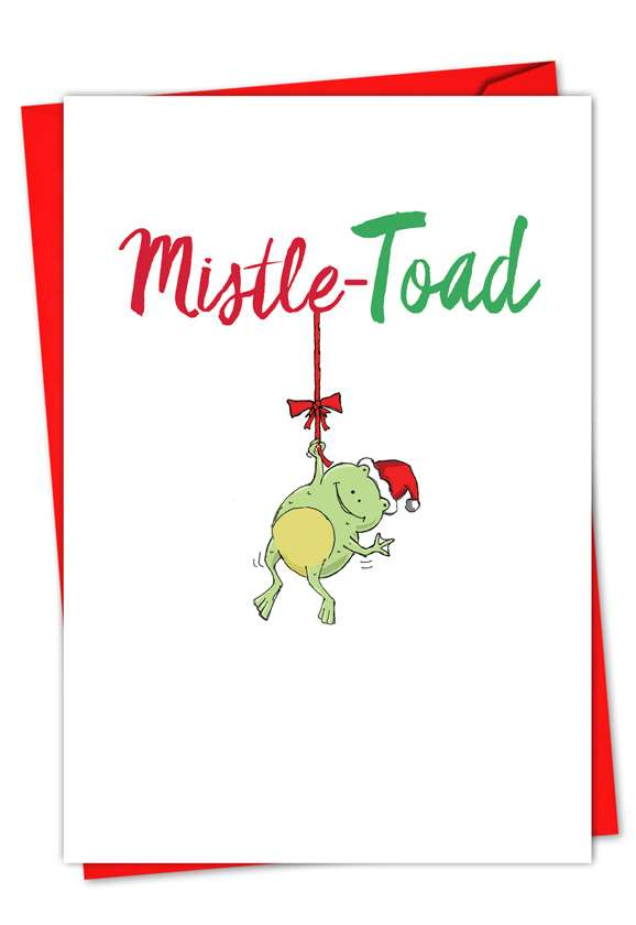It Was The Pun Before Christmas - Frog: Creative Christmas Paper Greeting Card