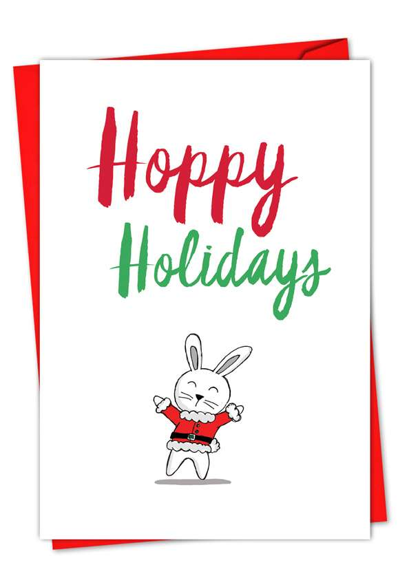 It Was The Pun Before Christmas - Bunny: Creative Christmas Paper Card