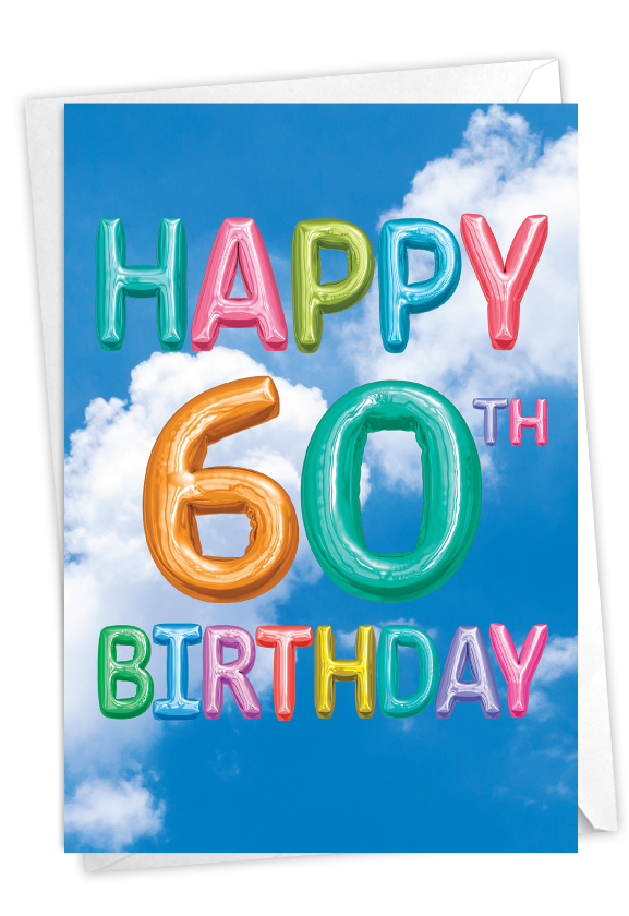 Inflated Messages - 60: Stylish Milestone Birthday Paper Card