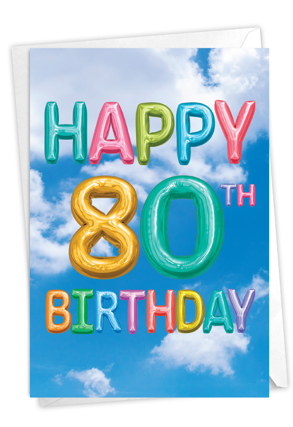 Inflated Messages - 80: Stylish Milestone Birthday Card