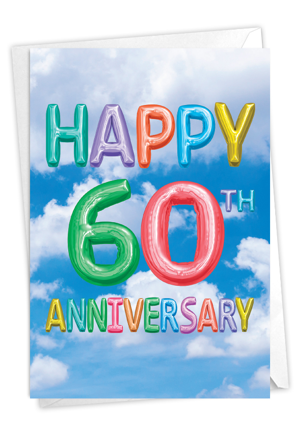 Inflated Messages - 60: Creative Milestone Anniversary Printed Card
