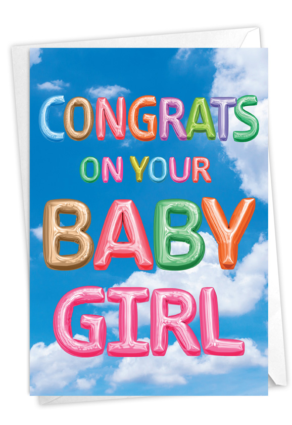 Inflated Messages - Baby Girl: Creative Baby Greeting Card