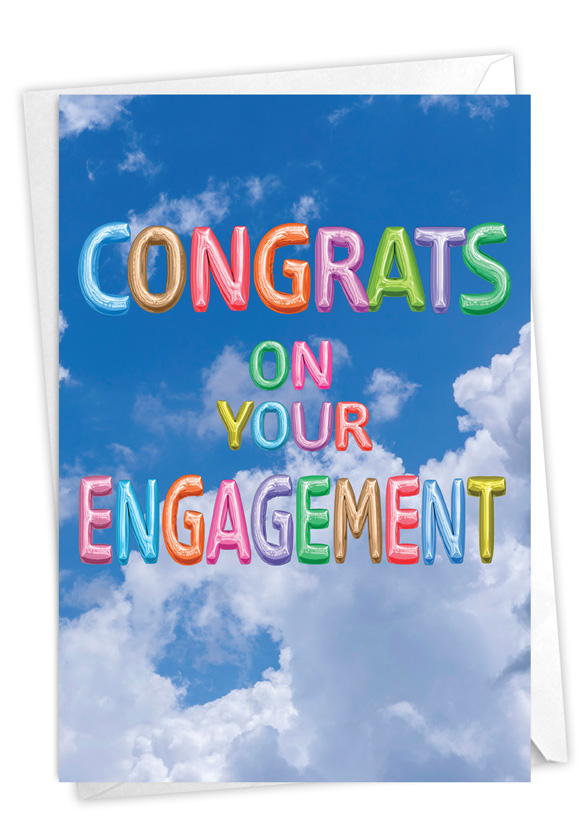 Inflated Messages - Engagement: Stylish Engagement Paper Card