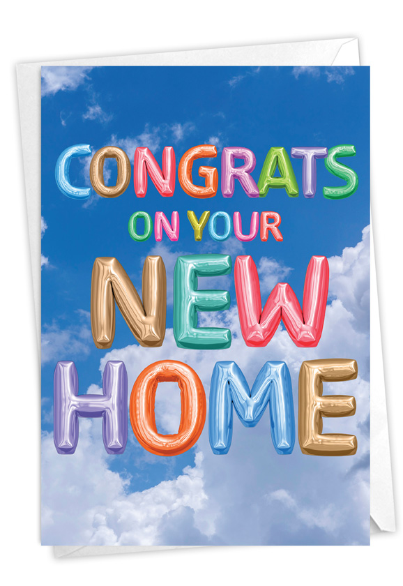 Inflated Messages - New Home: Creative New Home Printed Card