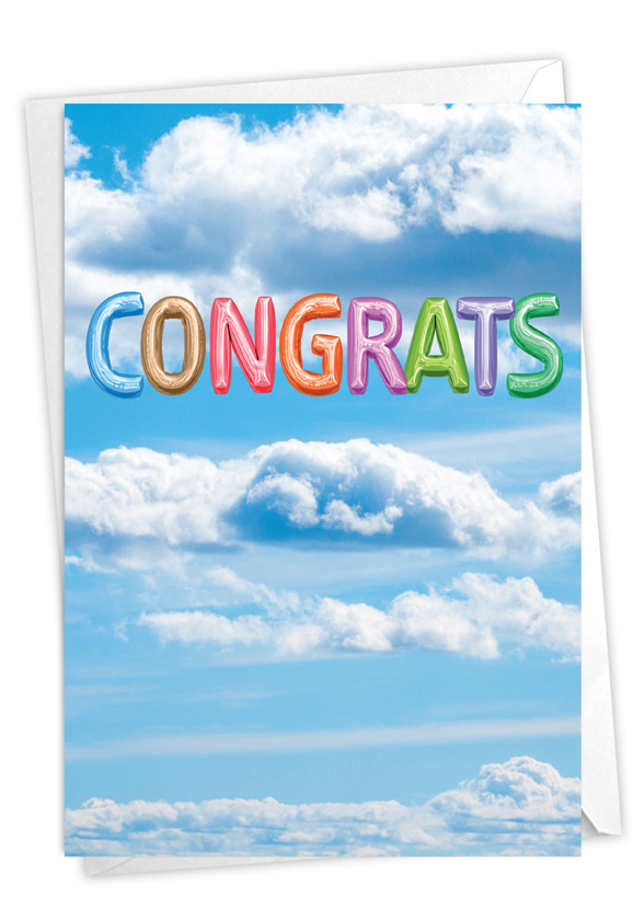 Inflated Messages - Congrats: Creative Congratulations Printed Greeting Card