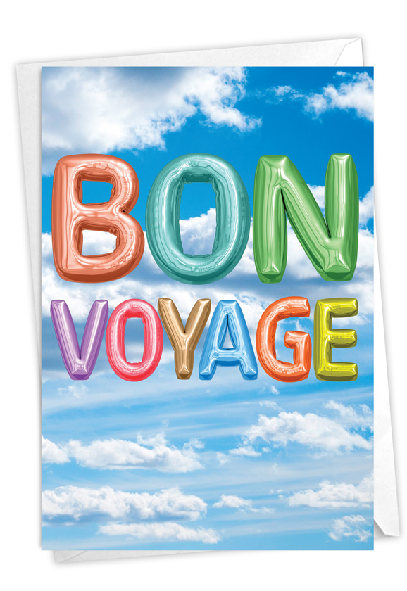 Inflated Messages - Bon Voyage: Stylish Bon Voyage Card