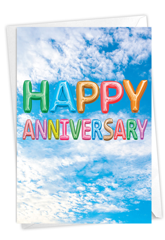 Inflated Messages - Anniversary: Creative Anniversary Printed Card