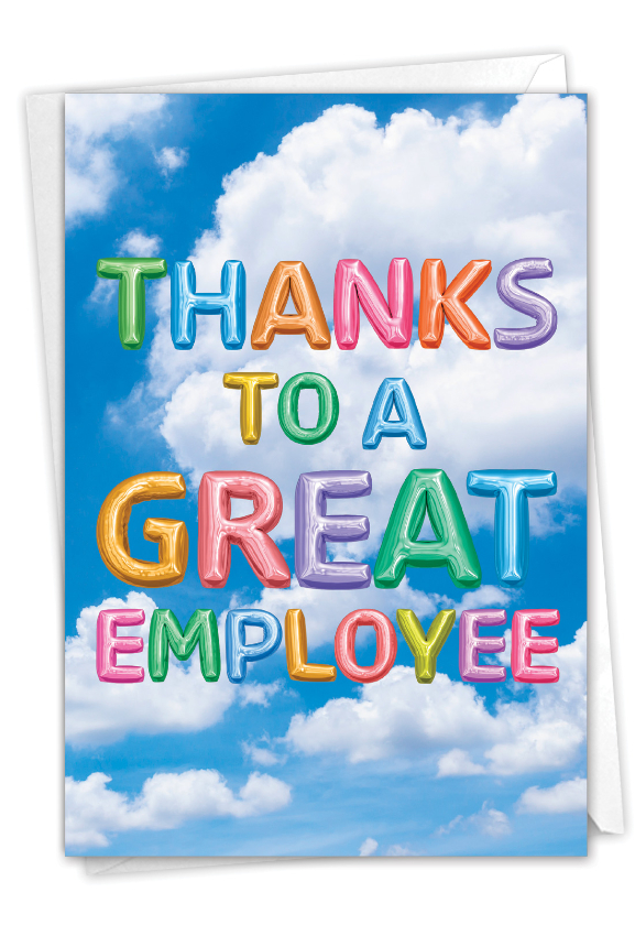Inflated Messages - Admin: Creative Administrative Professionals Day Printed Greeting Card