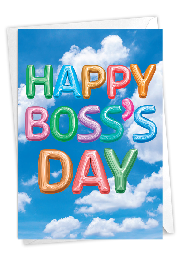 Inflated Messages - Boss's Day: Creative Boss's Day Printed Greeting Card