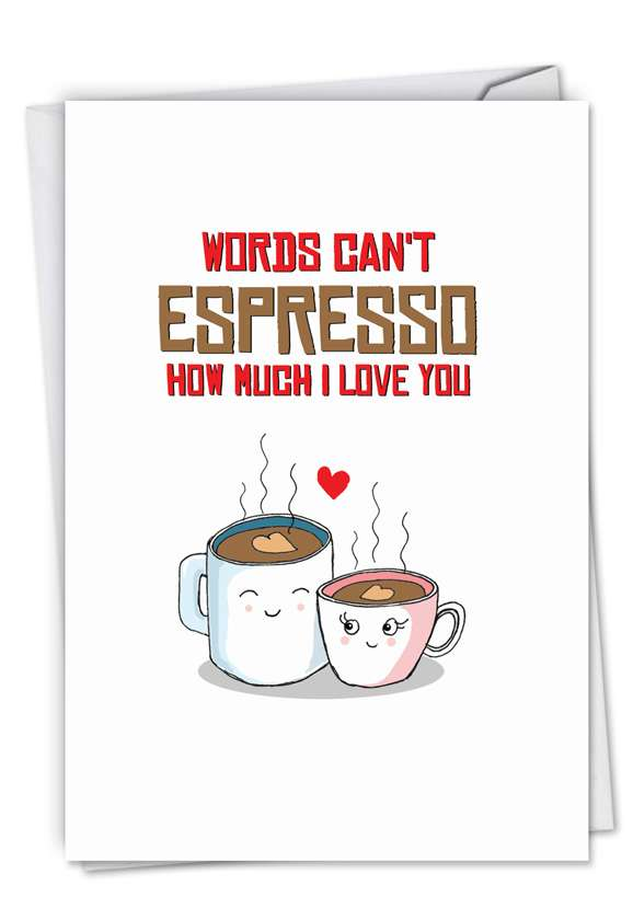 Yummy Puns-Espresso: Creative Birthday Paper Card
