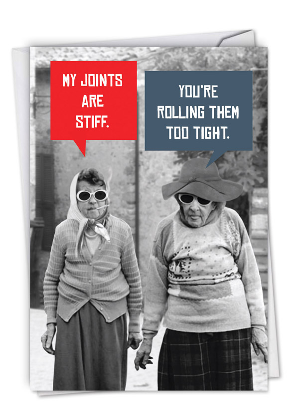 Stiff Joints: Funny Birthday Paper Greeting Card