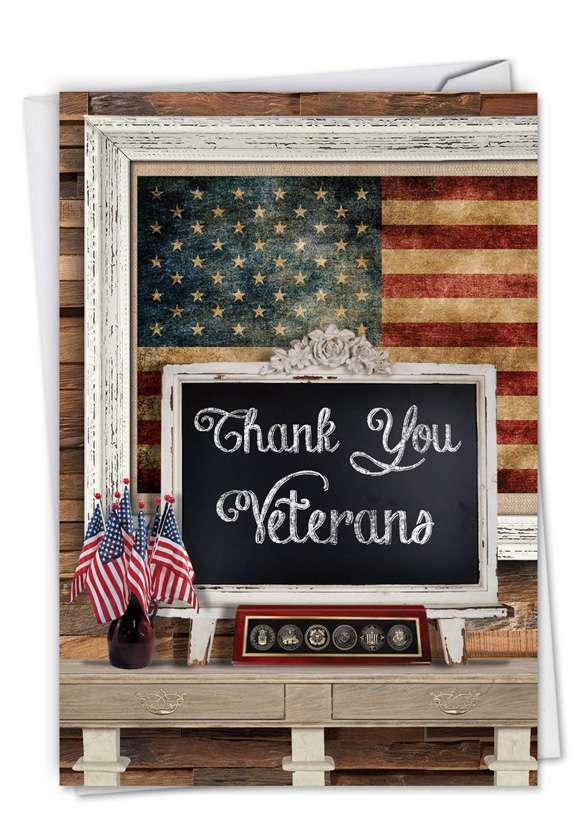 Thank You Veterans: Hysterical Veterans Day Paper Card