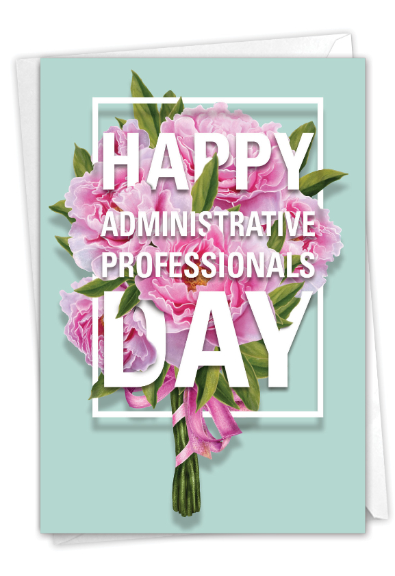 Flowers for Administrative Professionals From All: Artful Administrative Professionals Day Card