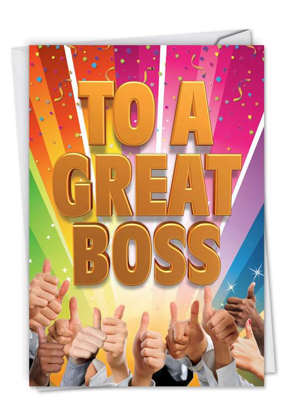 Great Boss From All: Funny Thank You Greeting Card