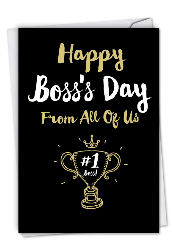 Happy Boss's Day From All: Humorous Boss's Day Paper Card