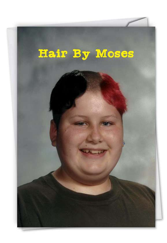 Moses Hair: Funny Birthday Greeting Card