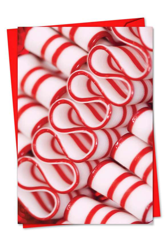 Hooked On Candy: Creative Christmas Printed Greeting Card