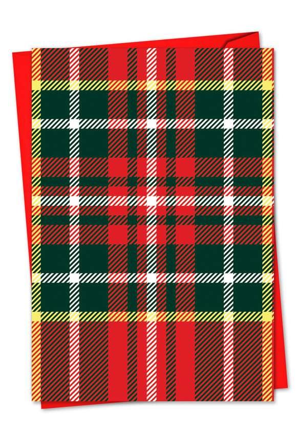 Highland Holiday: Stylish Christmas Greeting Card