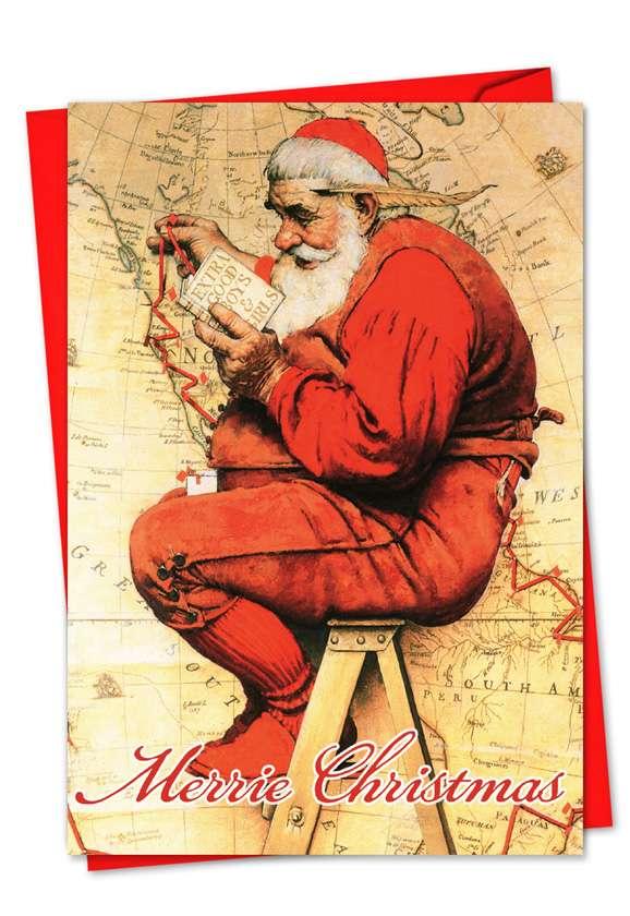 Rockwell Holidays: Stylish Christmas Printed Greeting Card