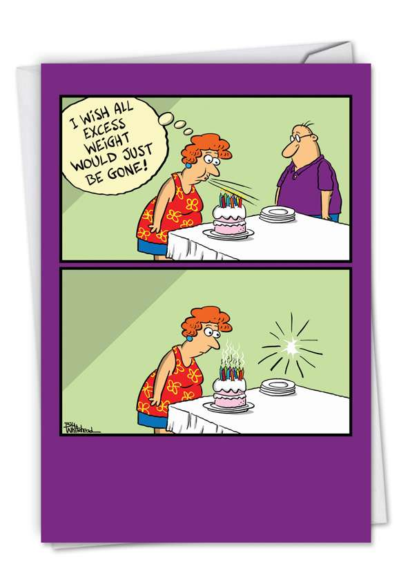 Excess Weight: Hilarious Birthday Printed Greeting Card